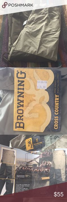 Browning Field Pro Pants NEW WITH TAGS. Browning Cross Country Pro Pant.  Amazing pants for outdoor activities.  Khaki and olive colors. Pants