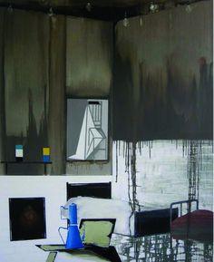 Farah Atassi | Tenement II | Oil on canvas | 2009