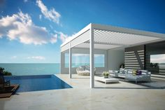 archiproducts:  CAMARGUE® by Renson  http://bit.ly/1prl3Zt  A sun shading and ventilation solution for your outdoor!  #shading #outdoor #design