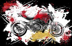 Ducati Monster 1200 2014 - Splash Art