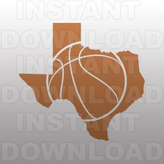 Basketball SVG FileTexas SVG FileCut File-Vector Clip Art by sammo