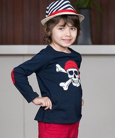 Look what I found on #zulily! Navy Pirate Long-Sleeve Tee - Toddler & Boys #zulilyfinds