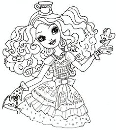 Free Printable Ever After High Coloring Pages: Madeline Hatter Ever After High Coloring Sheet
