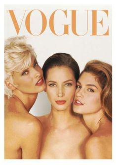 the all time supermodels! classic vogue cover