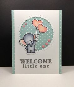 Baby Cards Adorable Elephants: MFT, critter sketch, by beesmom at splitcoast, baby Baby Shower Invitaciones, Card Tags, Card Kit, Card Sentiments, New Baby Cards, Mft Stamps, Animal Cards, Tampons, Card Sketches