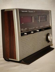 Slim 1970's Realistic Chronomatic-219 clock radio by HailleysCloset on Etsy