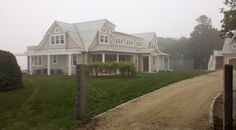 SLR Architecture - Front view of a waterfront Martha's Vineyard home.