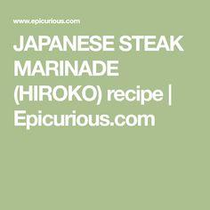 JAPANESE STEAK MARINADE (HIROKO) recipe   Epicurious.com