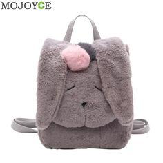 Women Rabbit Shaped Backpack Korean Cute Plush Winter Backpack Fashion Leisure Backpacks for Teenagers Girls Women Rucksack New Shoulder Bags For School, School Bags For Girls, Backpack Bags, Fashion Backpack, Mini Backpack, Travel Backpack, Canvas Travel Bag, Fluffy Bunny, College Bags