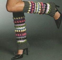 Funky Stripes Leg Warmers: Free #crochet leg warmers pattern