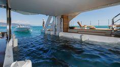 Seven Sins: Inside the first Sanlorenzo 52 Steel yacht Luxury Yacht Interior, Best Interior, Yacht Design, Boat Design, Garage Design, Exterior Design, Boating Holidays, Yacht Builders, Deck Boat