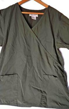 3 Women's Scrubs Short Sleeve Tops Uniform Medical Dental Size Med Lot of 3 | eBay