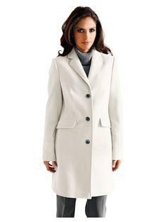 Manteau femme blanc ecru