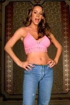 """Mariah Carey in """"Heartbreaker,"""" 1999. See 14 other questionable throwback trends every fashion girl secretly loved."""