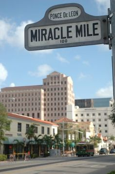 Miracle Mile - Outdoors Shopping, Food, Entertainment (Coral Gables, Florida)