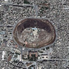 Real pictures of Aleppo castle from space by DigitalGlobe