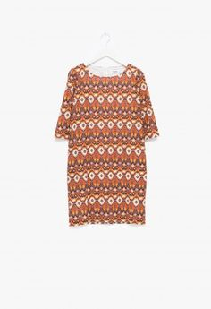 Samuji - Sana Dress Fez Orange Casual Outfits, Cold Shoulder Dress, Orange, Blouse, My Style, Pattern, Clothes, Tops, Dresses