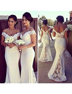 Off-shoulder Bridesmaid Dress,Unique Bridesmaid Dress,Pretty Bridesmaid Dress , Mermaid Bridesmaid dress ,PD113