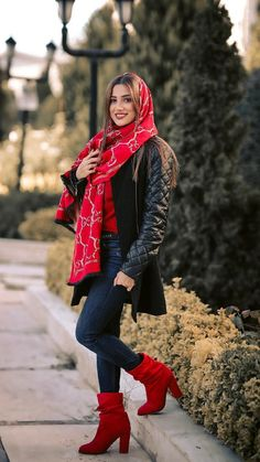 """Iranian girl in Iran. """"Best Iranian fashion"""" is published by aroosiman. Girls Fashion Clothes, Fall Fashion Outfits, Star Fashion, Look Fashion, Girl Fashion, Clothes For Women, Womens Fashion, Fashion Ideas, Urban Fashion Photography"""