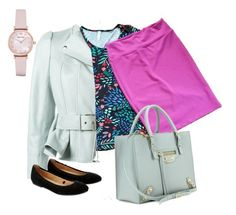 LuLaRoe Perfect Cassie Outfit.  This outfit shows how a LuLaRoe Perfect Tee and Cassie can be paired with accessories for a cute outfit.  Made using Polyvore.