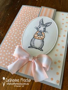 New Baby Cards Handmade Stampin Up Pink 24 Ideas Karten Diy, New Baby Cards, Stamping Up Cards, Animal Cards, Cards For Friends, Kids Cards, Creative Cards, Easter Crafts, Homemade Cards