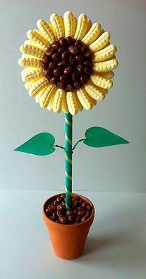Sweet Trees - Inspiration (Easter) fun idea too, if you use circus peanuts Candy Topiary, Candy Trees, Candy Bouquet Diy, Diy Bouquet, Chocolate Tree, Chocolate Bouquet, Sweetie Cake, Bar A Bonbon, Sweet Carts