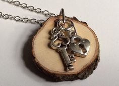 Lock and Key Essential Oil Diffuser Necklace by LowcountryEclectic, $15.00
