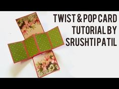 This Video is a Tutorial Video on How to make a Waterfall card. MEASUREMENTS Square cards Size 5cm x 5cm Black strip Length 25cm Width 5cm Folds at a gap of ...