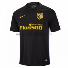 Billige Fodboldtrøjer Atletico Madrid 2016-17 Kortærmet Udebanetrøje