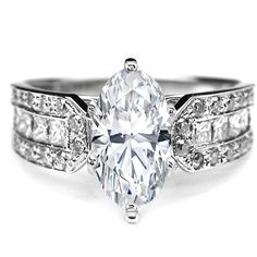 Engagement Ring - Oval Diamond Vintage Engagement Ring Horse shoe, 0.6... by None, via Polyvore
