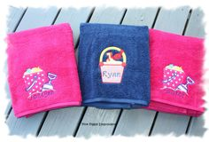 Child's Bath or Beach Towel  30x60 Quick Dry Personalized. $20.00, via Etsy.