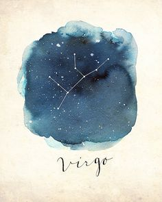 Virgo Print by DandelionPaperCo on Etsy