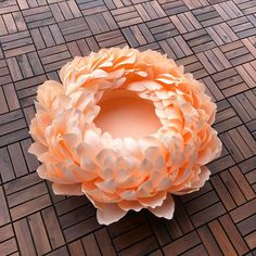 """💙Sapphire Flower LLC💙 on Instagram: """"Giant Paper peony for newborn photography 🧡🧡🧡 ⠀ Looking for unique Newborn Baby Photography Props !? ⠀ Big paper flowers are absolutely…"""" Big Paper Flowers, Paper Flower Art, Paper Peonies, Paper Flowers Wedding, Paper Flower Tutorial, Paper Flower Backdrop, Flower Petal Template, Alice In Wonderland Decorations, Flower Center"""