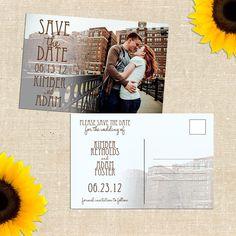 DIY PRINTABLE Brick Road Photo Save the Date Postcard. $20.00, via Etsy.