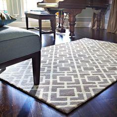 Microfiber Woven Harlow Ash Rug (7'6 x 9'6) - Overstock™ Shopping - Great Deals on Alexander Home 7x9 - 10x14 Rugs