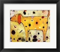 Yellow Dog Framed Print
