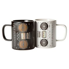 Boom box mugs. 80s baby I can't help it