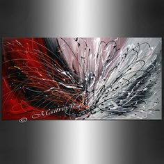 Abstract Art Red black painting Original acrylic Large Painting Modern Art Minimalist canvas wall art Made to Order artwork