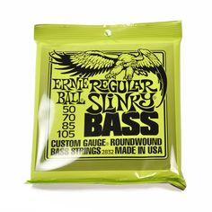Ernie Ball Regular Slinky Roundwound Bass Strings 50-105