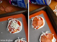 These Mini Calzones come together super quick and make for a perfect & kid friendly lunch! via Wine & Glue