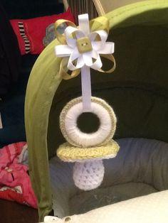 Crochet pram charm
