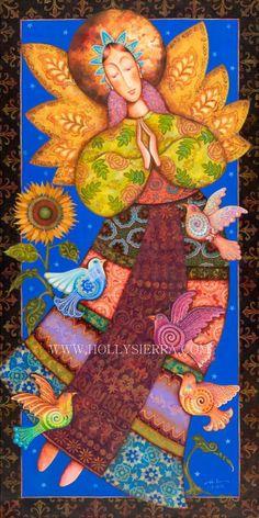 Angel De Santa Fe   A Southwestern Folk Art by HollySierraArt