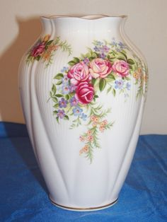 Royal Albert Floral Vase   Danbury Mint