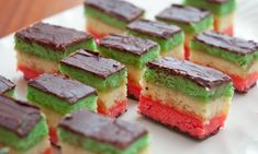 Italian Layer Cookies on a Platter