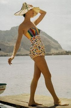 vintage hand painted pucci swimsuit circa 1960