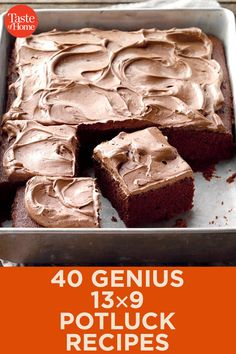 40 Genius Potluck Recipes From appetizers to desserts, these are the potluck recipes you need to know. Potluck Desserts, Potluck Dishes, Potluck Recipes, Food Dishes, Baking Recipes, Cake Recipes, Dessert Recipes, Casserole Recipes, Pot Luck