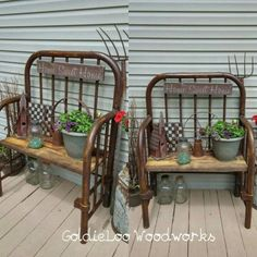 How about having repurposed garden decorations for this year garden? There are f… How about having repurposed garden decorations for this year garden? There are few DIY repurposed ideas here for your garden decoration. Furniture Projects, Furniture Makeover, Wood Projects, Diy Furniture, Plywood Furniture, Furniture Stores, Garden Furniture, Furniture Websites, Furniture Dolly