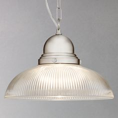 Buy John Lewis George Ribbed Glass Ceiling Pendant Online at johnlewis.com