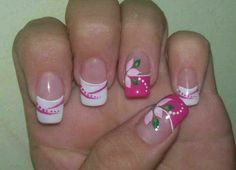 This is a very nice Trendy Nail Arts Design in nude or pastel colors with rhinestone or diamond or glitters , It gives sophisticated and luxurious looks in your nails. Its just enough glitz to have a stylish yet not overbearing nail art design. Fingernail Designs, Toe Nail Designs, Nail Polish Designs, Get Nails, Pink Nails, White Nails, French Nails, Flower Nail Art, Acrylic Nail Art