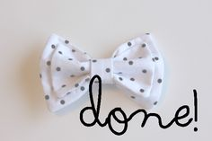 DIY Double Bow Tutorial ~ This one gives you a better idea of the size of your finished product!